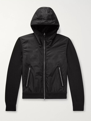 Tom Ford Shell-Panelled Wool Hooded Jacket