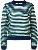 M Missoni round neck striped jumper