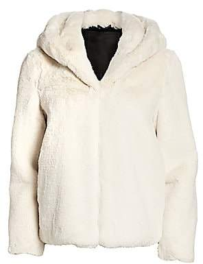 H Brand Women's Abbie Faux Fur Hooded Jacket