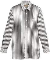 Burberry dot and stripe print shirt