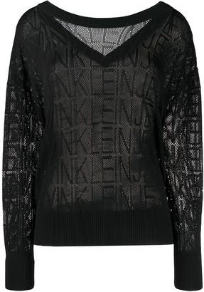 Calvin Klein Jeans Mesh Knit Logo Jumper