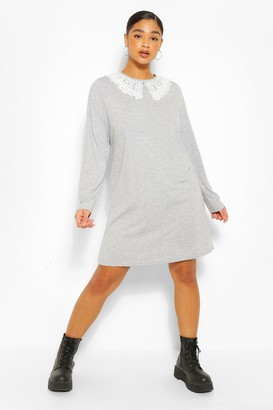 boohoo Plus Jersey Collar T-Shirt Dress