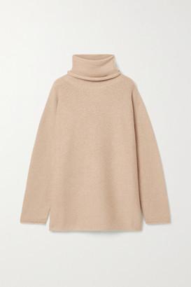LAUREN MANOOGIAN Oversized Alpaca Turtleneck Sweater - Beige