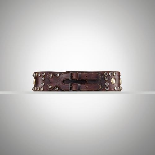 Ralph Lauren Distressed Studded Corset Belt