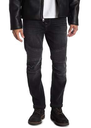 True Religion Roco No Flap Moto Jeans