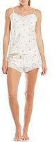 Lauren Ralph Lauren Floral Satin & Lace Pajamas