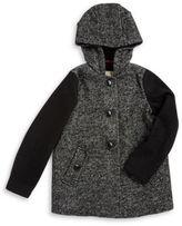 Michael Kors Faux Fur Accented Wool-Blend Coat