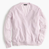 J.Crew V-neck sweater in cotton-merino wool