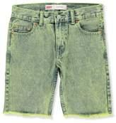 Levi's Big Boys' 511 Slim Cutoff Shorts - green, 14