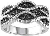 Black Diamond Sterling Silver .22-ct. T.W. Woven Ring