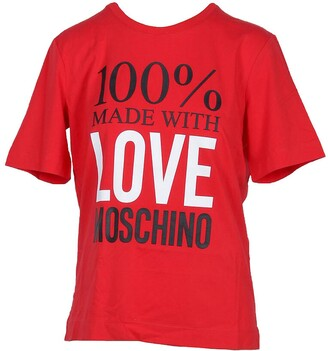 Love Moschino 100% Made with Love Red Cotton Women's T-Shirt