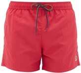 Paul Smith Zebra-embroidered Swim Shorts - Mens - Pink