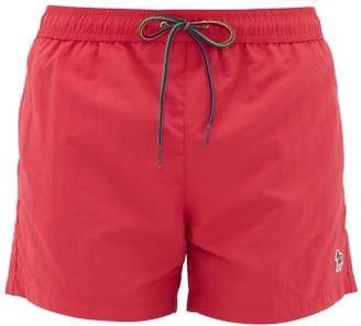 Paul Smith Zebra-embroidered Swim Shorts - Mens - Pink
