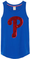 PINK Philadelphia Phillies Bling Rib Neck Tank