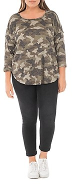 B Collection by Bobeau Curvy Plus Size Alicia Leopard Print Top