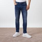 Mens River Island Mid Blue Dylan slim fit jeans