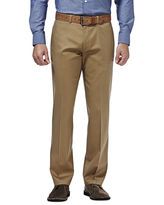 Haggar Premium No Iron Straight-Fit Flat-Front Khakis