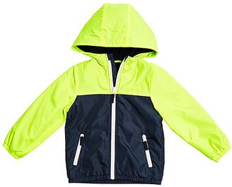 Osh Kosh Boys' Non-Denim Casual Jackets BRIGHT - Bright Yellow & Navy Color Block Raincoat - Infant & Toddler