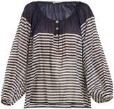 Mes Demoiselles Forward striped cotton shirt