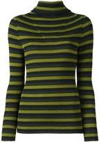 P.A.R.O.S.H. roll neck striped pullover