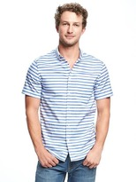 Old Navy Slim-Fit Built-In Flex Summer-Weight Oxford Shirt For Men