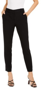 Bar III Classic Straight-Leg Trousers, Created for Macy's
