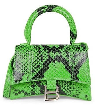 Balenciaga Extra-Small Python HourglassTop Handle Bag