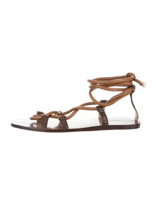 Jimmy Choo Leather Gladiator Sandals Brown
