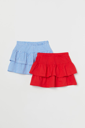 H&M 2-pack Jersey Skirts - Red