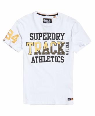 Superdry Men's Super Track Metallic Box Fit Tee T-Shirt