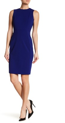 Calvin Klein Solid Scuba Crepe Sheath Dress