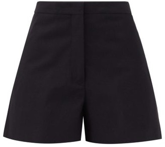 Jil Sander Mattia High-rise Cotton-canvas Shorts - Navy