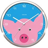 Karlsson Wall Clock Peekaboo Pig Steel