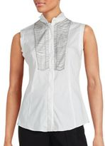 Brunello Cucinelli Trimmed Cashmere Sleeveless Top
