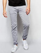 Replay Jeans Anbass Slim Fit Stretch Light Grey Overdye Wash