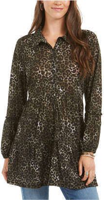 Style&Co. Style & Co Printed Empire-Waist Tiered Blouse