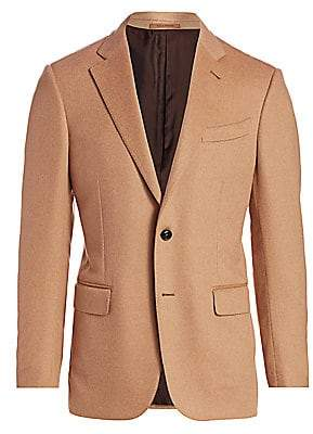 Ermenegildo Zegna Men's Two-Button Camel Jacket