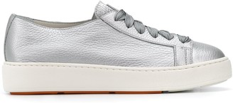 Santoni Metallic-Effect Low-Top Sneakers