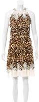 Roberto Cavalli Pleated Silk Dress