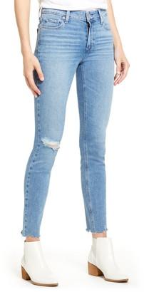 Paige Verdugo Ripped Raw Hem Skinny Jeans