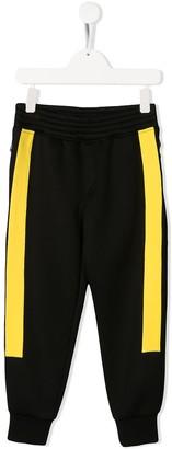 Neil Barrett Kids Contrast Track Trousers