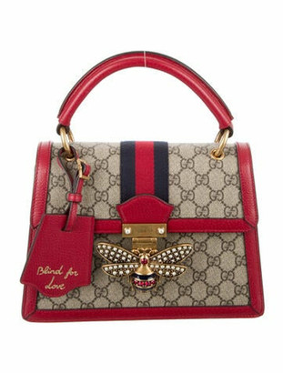 Gucci Small Queen Margaret GG Supreme Bag Red