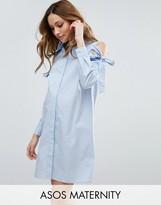 Asos Shirt Dress with Cold Shoulder