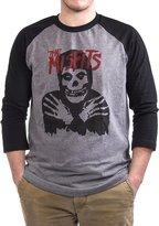 Impact Misfits Classic Skull Baseball T-shirt Black/Gray