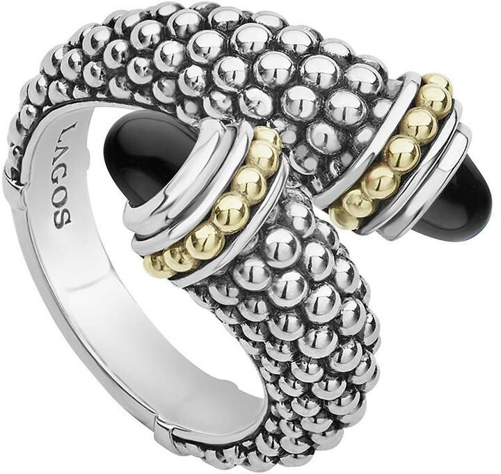 Lagos Signature Caviar Crossover Ring