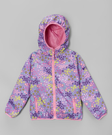 Hawke & Co Orchid Bloom Reversible Jacket - Girls