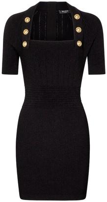 Balmain Ribbed-knit bodycon minidress
