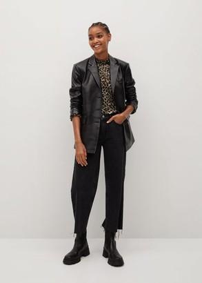 MANGO Leopard print blouse