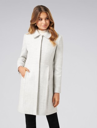 Forever New Emmy Dolly Coat - Grey Marle - 6