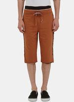 Men's Raw Layered Stripe Shorts In Brown €285
